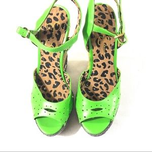 Jessica Simpson women's wedges green 8.5